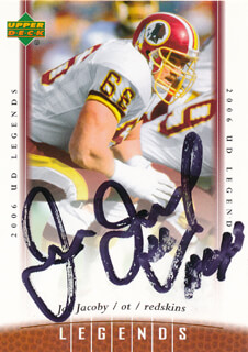 JOE JACOBY - TRADING/SPORTS CARD SIGNED