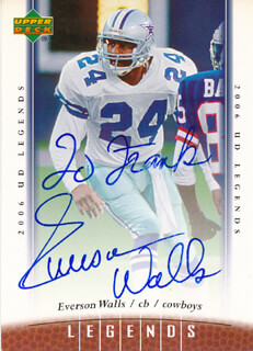 EVERSON WALLS - INSCRIBED TRADING/SPORTS CARD SIGNED
