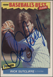 RICK SUTCLIFFE - TRADING/SPORTS CARD SIGNED