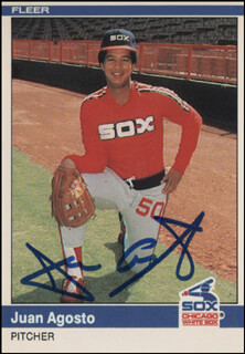 Autographs: JUAN AGOSTO - TRADING/SPORTS CARD SIGNED