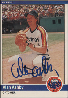 ALAN ASHBY - TRADING/SPORTS CARD SIGNED