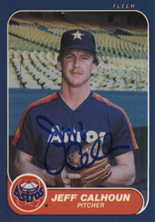Autographs: JEFF CALHOUN - TRADING/SPORTS CARD SIGNED