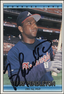 TERRY PENDLETON - TRADING/SPORTS CARD SIGNED