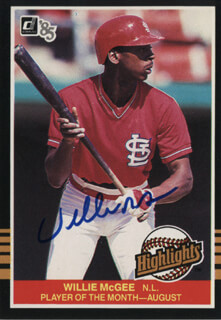 WILLIE MCGEE - TRADING/SPORTS CARD SIGNED