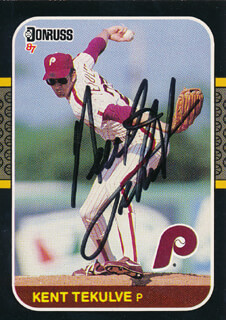 KENT TEKE TEKULVE - TRADING/SPORTS CARD SIGNED
