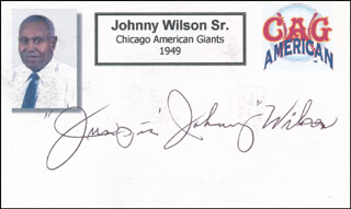 JOHNNY JUMPING JOHNNY WILSON SR. - PRINTED CARD SIGNED IN INK