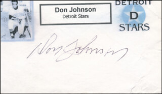 DON JOHNSON - PRINTED CARD SIGNED IN INK
