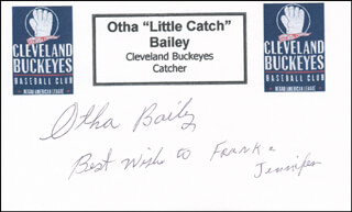 Autographs: OTHA LITTLE CATCH BAILEY - AUTOGRAPH NOTE SIGNED