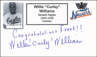 Autographs: WILLIE CURLY WILLIAMS - AUTOGRAPH NOTE SIGNED