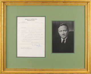 ASSOCIATE JUSTICE WILLIAM O. DOUGLAS - TYPED LETTER SIGNED 01/07/1963
