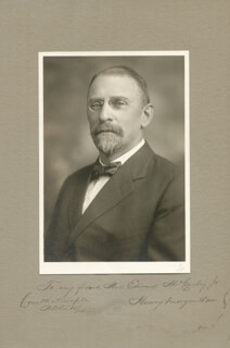 HENRY MORGENTHAU SR. - INSCRIBED PHOTOGRAPH MOUNT SIGNED 10/15/1904