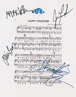 THE TURTLES - SHEET MUSIC SIGNED CO-SIGNED BY: TURTLES, THE (MARK VOLMAN), THE TURTLES (HOWARD KAYLAN), THE TURTLES (JIM PONS), THE TURTLES (JIM TUCKER)