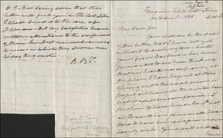 CHIEF JUSTICE ROGER B. TANEY - AUTOGRAPH LETTER SIGNED 10/10/1856