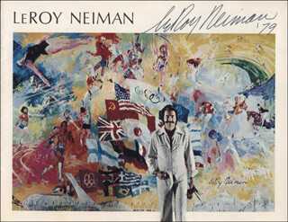 LEROY NEIMAN - PROGRAM SIGNED 1979