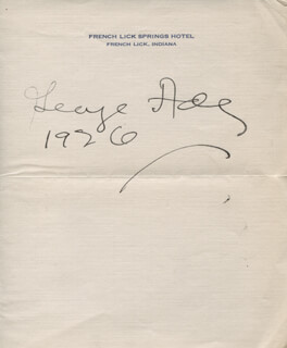 GEORGE ADE - AUTOGRAPH 1926  - HFSID 327903