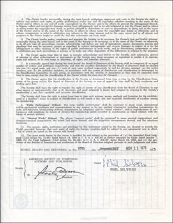 PHIL SILVERS - CONTRACT SIGNED 11/11/1975
