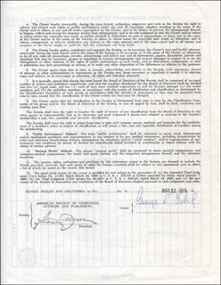 GEORGE GOBEL - CONTRACT SIGNED 03/22/1976