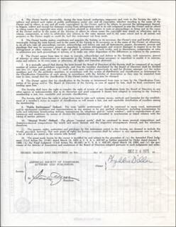 PHYLLIS DILLER - CONTRACT SIGNED 12/24/1975
