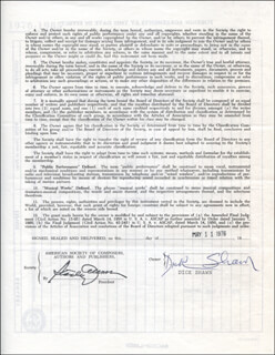 DICK RICKY SHAWN - DOCUMENT SIGNED 05/11/1976