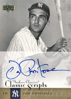 JOE PEPI PEPITONE - TRADING/SPORTS CARD SIGNED