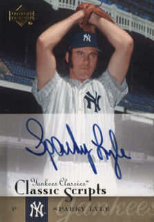 SPARKY LYLE - TRADING/SPORTS CARD SIGNED