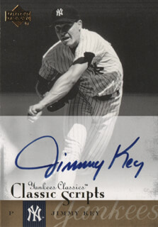 JIMMY KEY - TRADING/SPORTS CARD SIGNED