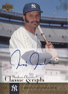 CHRIS CHAMBLISS - TRADING/SPORTS CARD SIGNED