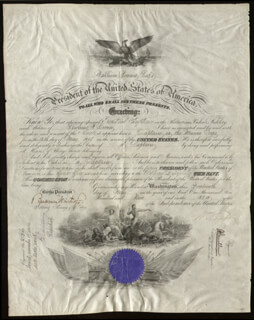 Autographs: PRESIDENT WILLIAM H. TAFT - NAVAL APPOINTMENT SIGNED 05/14/1909 CO-SIGNED BY: BEEKMAN WINTHROP