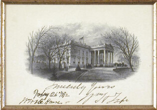 PRESIDENT WILLIAM H. TAFT - WHITE HOUSE ENGRAVING SIGNED 02/26/1912
