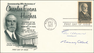ASSOCIATE JUSTICE TOM C. CLARK - FIRST DAY COVER SIGNED CO-SIGNED BY: RAMSEY CLARK
