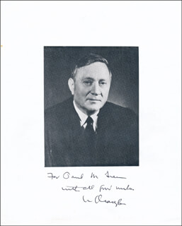 ASSOCIATE JUSTICE WILLIAM O. DOUGLAS - AUTOGRAPHED INSCRIBED PHOTOGRAPH