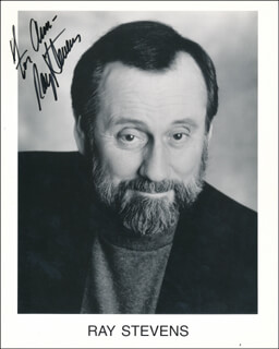RAY STEVENS - INSCRIBED PRINTED PHOTOGRAPH SIGNED IN INK