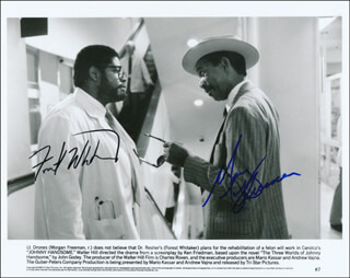 JOHNNY HANDSOME MOVIE CAST - AUTOGRAPHED SIGNED PHOTOGRAPH CO-SIGNED BY: MORGAN FREEMAN, FOREST WHITAKER