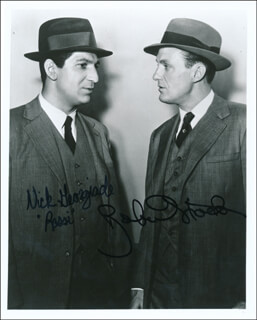 UNTOUCHABLES TV CAST - AUTOGRAPHED SIGNED PHOTOGRAPH CO-SIGNED BY: ROBERT STACK, NICK GEORGIADE