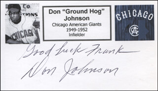 DON JOHNSON - AUTOGRAPH NOTE SIGNED