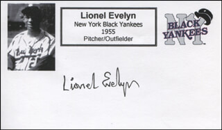 LIONEL EVELYN - PRINTED CARD SIGNED IN INK