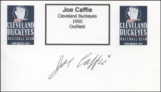 Autographs: JOE CAFFIE - PRINTED CARD SIGNED IN INK