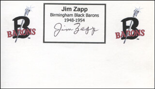 JIM ZAPP - PRINTED CARD SIGNED IN INK