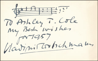 VLADIMIR GOLSCHMANN - INSCRIBED AUTOGRAPH MUSICAL QUOTATION SIGNED