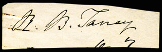 CHIEF JUSTICE ROGER B. TANEY - CLIPPED SIGNATURE