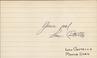 ABBOTT & COSTELLO (LOU COSTELLO) - AUTOGRAPH SENTIMENT SIGNED