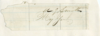 Autographs: MAJOR GENERAL ANDREW JACKSON SMITH - CLIPPED SIGNATURE