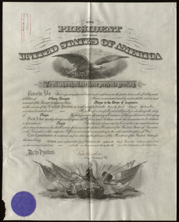 PRESIDENT WILLIAM H. TAFT - MILITARY APPOINTMENT SIGNED 12/18/1909 CO-SIGNED BY: BRIGADIER GENERAL ROBERT SHAW OLIVER