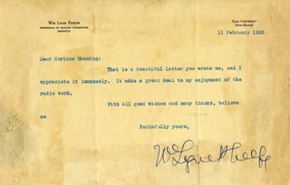 WILLIAM LYON PHELPS - TYPED LETTER SIGNED 02/11/1935