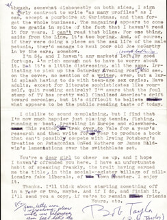 ROBERT LEWIS TAYLOR - TYPED LETTER SIGNED 07/20/1967