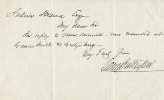 Autographs: MAJOR GENERAL DANIEL BUTTERFIELD - AUTOGRAPH NOTE SIGNED CIRCA 1893
