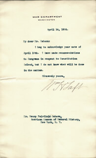 PRESIDENT WILLIAM H. TAFT - TYPED LETTER SIGNED 04/14/1906