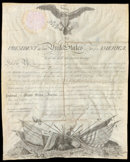 Autographs: PRESIDENT JAMES MADISON - MILITARY APPOINTMENT SIGNED 07/23/1812 CO-SIGNED BY: WILLIAM EUSTIS