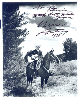 GENE AUTRY - AUTOGRAPHED SIGNED PHOTOGRAPH 1978