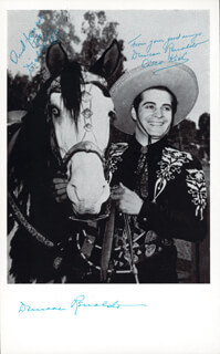 DUNCAN THE CISCO KID RENALDO - AUTOGRAPHED SIGNED PHOTOGRAPH